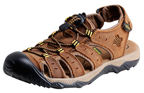 ilovesia-mens-athletic-and-outdoor-closed-toe-leather-sandals-light-brown-uk-95-lable-45