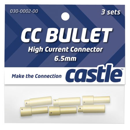 Castle Creations CCBUL653 6.5mm Bullet Connectors