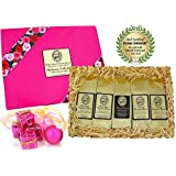 Voted Best Coffee Gift for Women, Sampler Gourmet Coffee Gift of Five Kona Hawaiian Coffee Roasts, Ground, Brews 60 Cups, for Christmas, Mothers Day, Birthday, Thank You, and All Occasions