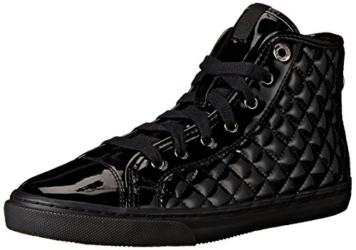 Geox D New Club D, Sneaker con Cerniera, Donna, Black, 36 EU