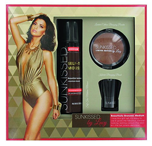 Sunkissed By Lucy Beautifully Bronzed Confezione Regalo 120ml Mousse Abbronzante (Media) + 8.9g Bron
