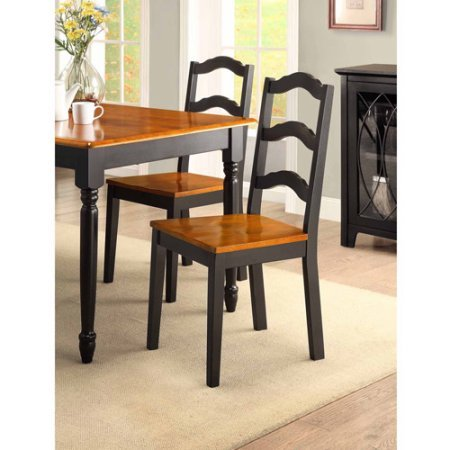 Better Homes and Gardens Autumn Lane 5-piece Dining Set, Black and Oak (Cool Dining Set compare prices)