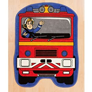 Fireman Sam Hero Shaped Floor Rug by Fireman Sam