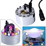 Pixnor 12 Colorful LEDs Ultrasonic Mist Maker Fogge