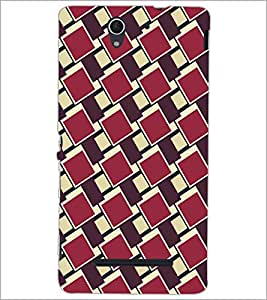 PrintDhaba Pattern D-5267 Back Case Cover for SONY XPERIA C3 (Multi-Coloured)
