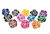 Drhob 12 Flower Colorful Polymer Clay Beads Assorted Colors