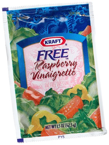 Kraft Raspberry Vinegrette Dressing, Fat Free, 1.5-Ounce Packages (Pack of 60)