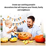 Pumpkin Carving Tools Kit -10 Piece Heavy Duty Stainless Steel Jack-O-Lantern Halloween Sculpting Set