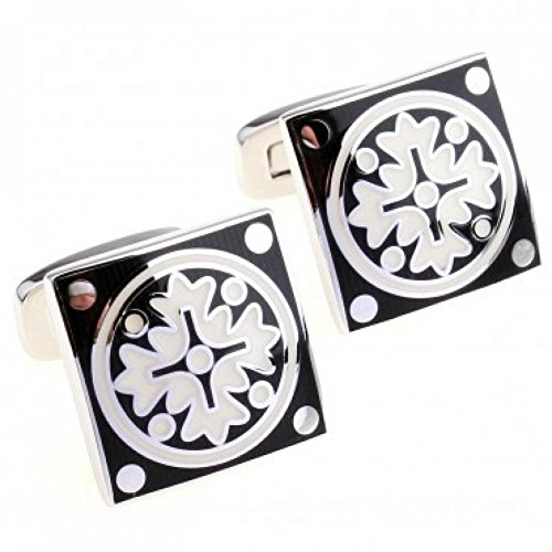 EZON-CH Tzg01781 Enamel Cufflink 1 Pair For Man And Women