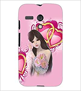 PrintDhaba Love Girl D-4131 Back Case Cover for MOTOROLA MOTO G (Multi-Coloured)