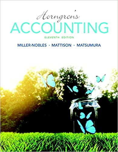 Horngren's Accounting Plus MyAccountingLab With Pearson EText -- Access Card Package (11th Edition) (Miller-Nobles Et Al., The Horngren Accounting Series)