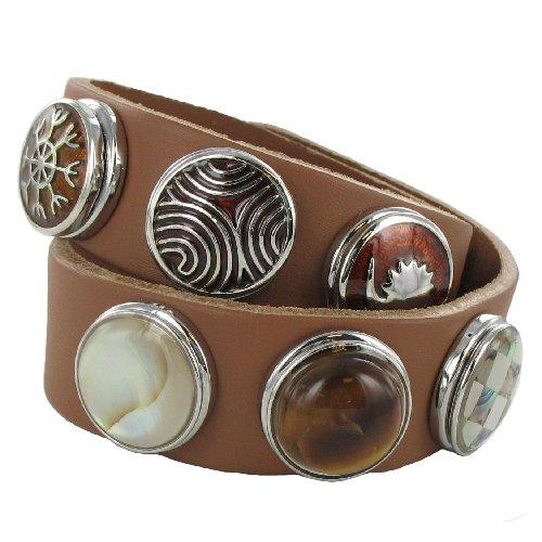 Eligo Jewellery medium Chunk Brown Bracelet Set 41/43cm + 6 Chunks
