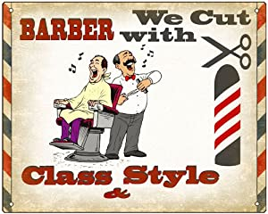 Barber Shop Decor : Barber Shop Sign Hair stylist / funny retro vintage style wall decor ...