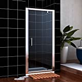 860mm Pivot Hinge Shower Door Enclosure 6mm Safety Glass NEXT WORKING DAY DELIVERY