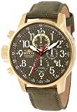 Invicta 1876 Men's I-Force Lefty Military Green Dial Canvas & Leather Strap Chronograph Watch
