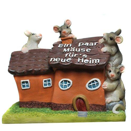 """Spardose / """"Für's neue Heim"""" / mit Mäuse"""