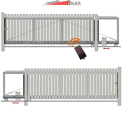 schiebetor bausatz h 100 b 460 mit e antrieb silbergrau. Black Bedroom Furniture Sets. Home Design Ideas
