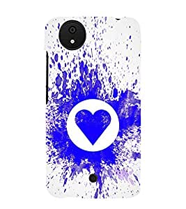 Blue Heart 3D Hard Polycarbonate Designer Back Case Cover for Micromax Canvas Android A1 AQ4501 :: Micromax Canvas Android A1