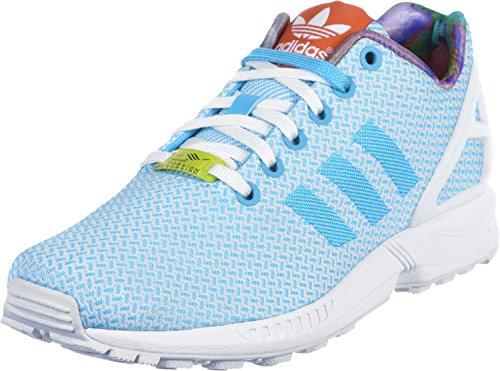 Adidas Women'S Zx Flux Weave, Bright Cyan/Running White/Black, 8