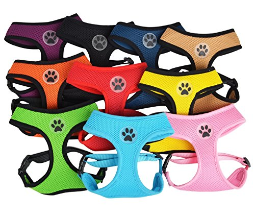 Soft-Mesh-Dog-Harness-Pet-Walking-Vest-Puppy-Padded-Harnesses-Adjustable