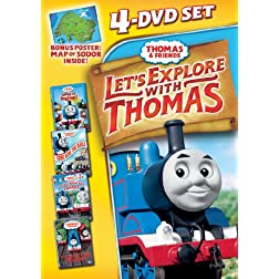 Thomas & Friends: Let's Explore With Thomas 4 Pack - DVD