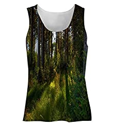 Snoogg No Way Forest Womens Tunic Casual Beach Fitness Vests Tank Tops Sleeveless T shirts