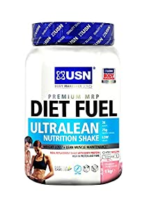 USN Diet Fuel Ultralean Weight Control Meal Replacement Shake Powder, Strawberry - 1 kg