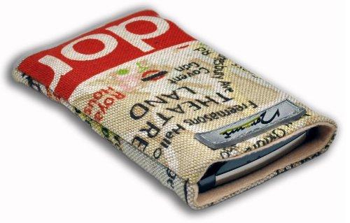 Norrun Handytasche / Handyhülle # Modell Lindis # ersetzt die Handy-Tasche von Hersteller / Modell Benq-Siemens AL26 Hello Kitty # maßgeschneidert # mit einseitig eingenähtem Strahlenschutz gegen Elektro-Smog # Mikrofasereinlage # Made in Germany