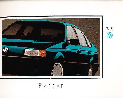 1992 Volkswagen Vw Passat 22-Page Vg+ Original Sales Brochure Catalog