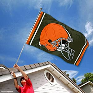 Cleveland Browns Large NFL 3x5 Flag by Sports Flags and Pennants Co.
