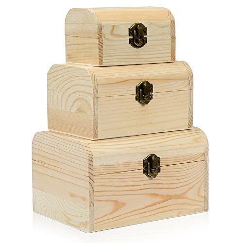 hsr-3-x-plain-unpainted-wooden-treasure-chest-jewellery-storage-wood-box-case-set-plain