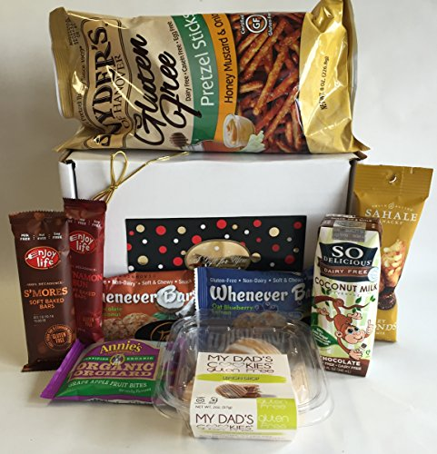 Gluten free dairy free gift box basket yummy treats over 2 gluten free dairy free gift box basket yummy treats over 2 pounds for fathers day birthday college military care package thinking of you negle Images