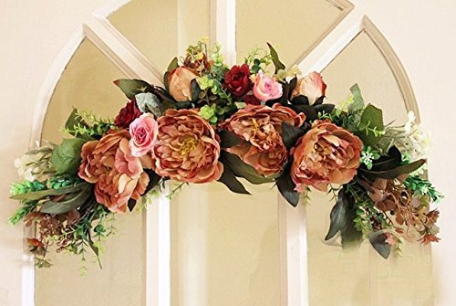 Floral wreath home wall door décor Artificial Flowers