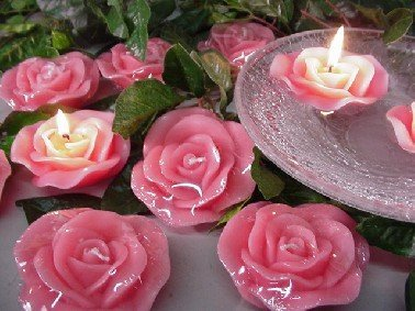 Scented Floating ROSE Candles