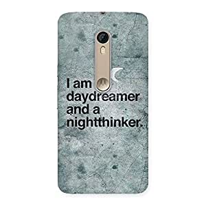 Cute Knight Thinker Multicolor Back Case Cover for Motorola Moto X Style
