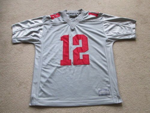 US-Sports Ohio State Buckeyes Premier Sewn NCAA American Football Jersey - # 12 Mens Large