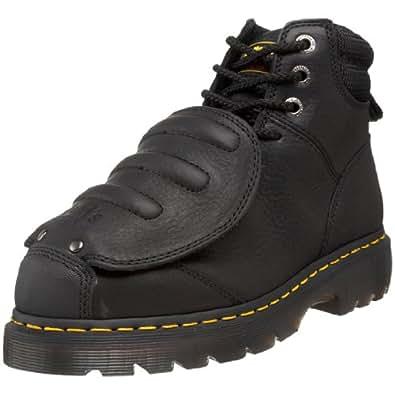 Dr. Martens Men's Ironbridge MG ST Steel-Toe Met Guard Boot,Black,6 UK/7 M US