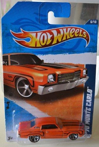 Hot Wheels Walmart Exclusive Muscle Mania '70 Monte Carlo Orange #106/244 - 1
