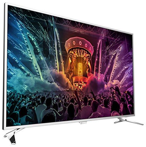 Philips-43PUS650112-1092-cm-43-Zoll-Ultraflacher-Android-4K-Fernseher-mit-2-seitigem-Ambilight-und-PixelPrecise-Ultra-HD-hellsilber