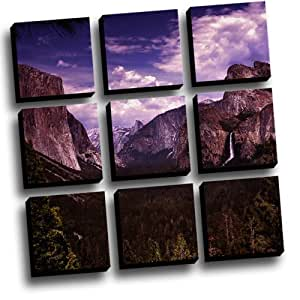 9 Panel Yosemite Canvas Wall Art Kitchen Home