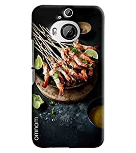 Omnam Grilled Sea Food Printed Designer Back Cover Case For HTC One M9 Plus