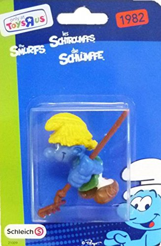 "Schleich Limited Edition 2"" Gardener Smurf with Rake Figure - 1"