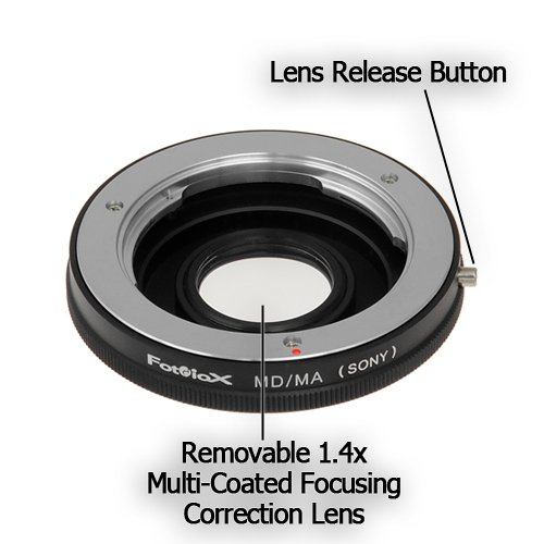 Fotodiox 10LA-MD-SN-G Lens Mount Adapter - Minolta MD, MC, Rokkor Lens to Sony Alpha Camera Fits Sony