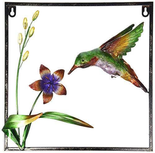 13-Inch Iron Hummingbird Design Wall Plaques, Medium