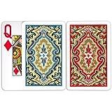 Kem Paisley Pinochle Set, Super Index (Pinochle = 48 Cards per Deck)