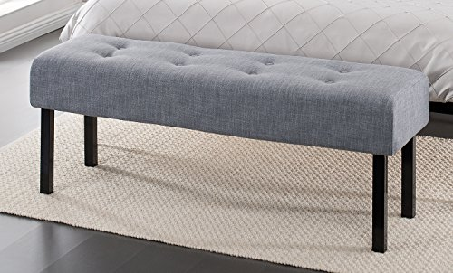 Great Features Of Zinus Memory Foam Tufted Upholstered Bed Bench