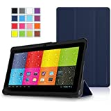 """Prontotec SlimFit Series 3-Fold Cover for 7"""" Android Tablet (Compatible Model: Dragon Touch 7"""" Y88, A13 Q88, Matricom G-Tab Nero CX2, ProntoTec 7"""" Y88, ProntoTec Axius Series 7"""", Axis A23 7"""", Simbans S74 7"""", NORIA T2 7"""", Zeepad, Chromo, FONESO HH017 7"""" A23, NeuTab N7 7'', Noria JR 7"""")(Navy)"""