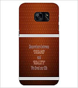 PrintDhaba Quote D-1324 Back Case Cover for SAMSUNG GALAXY S7 (Multi-Coloured)