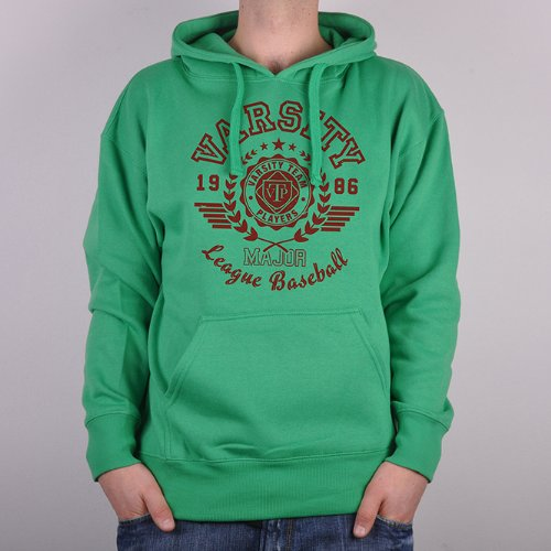 Varsity Team Players LEAGUE Men's Hoodie - Green - X Large