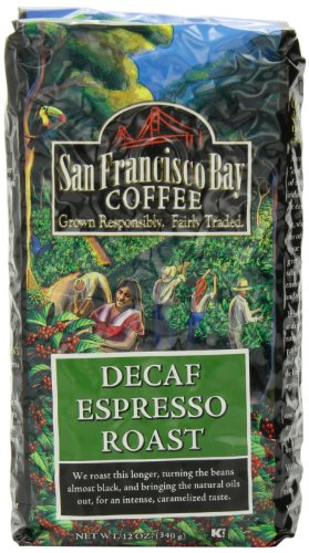 San Francisco Bay Coffee Whole Bean Decaf Espresso Roast, 12-Ounce Bags (Pack of 3)